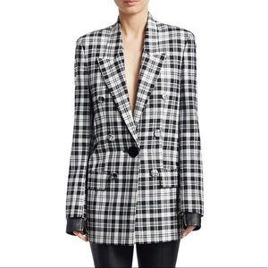 NWOT Alexander Wang Plaid Button Blazer